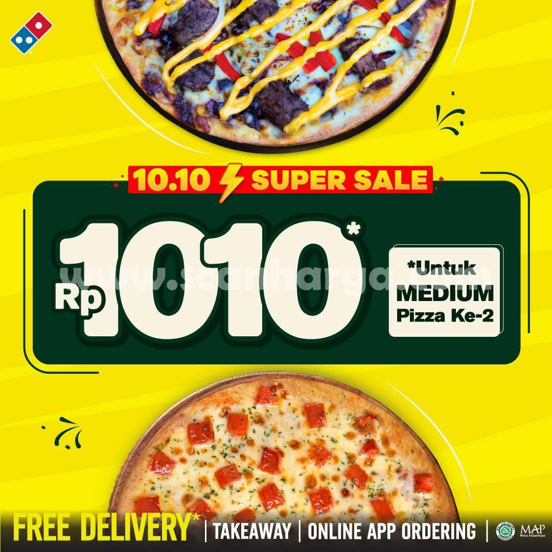 DOMINOS PIZZA Promo 10.10 Super Sale cuma Rp 1.010