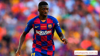 Man United are in talks with Menders about signing Barcelona attacker Ousmane Dembele.