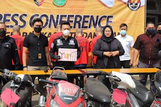 Press Conference Hasil Ops Jaran Maung 2021 Polres Cilegon