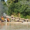 Patroli Pengecekan Aktifitas Pertambangan Emas Tanpa Ijin (PETI) di Aliran Sungai Sungai Batang Kuantan Kecamatan Benai