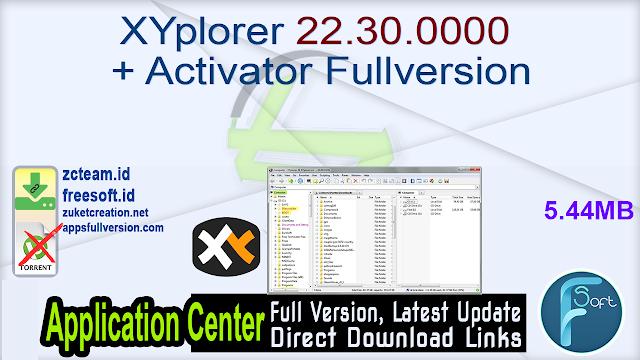 XYplorer 22.30.0000 + Activator Fullversion