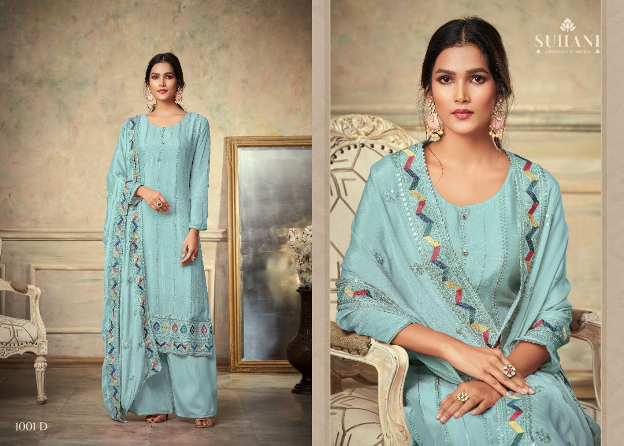 Mohini Fashion Suhani 1001 Plazzo Style Suits Catalog Lowest Price