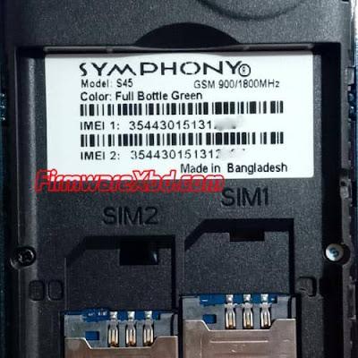 Symphony S45 Flash File