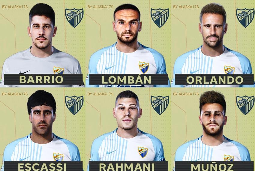 Facepack Málaga CF 20-21 For eFootball PES 2021