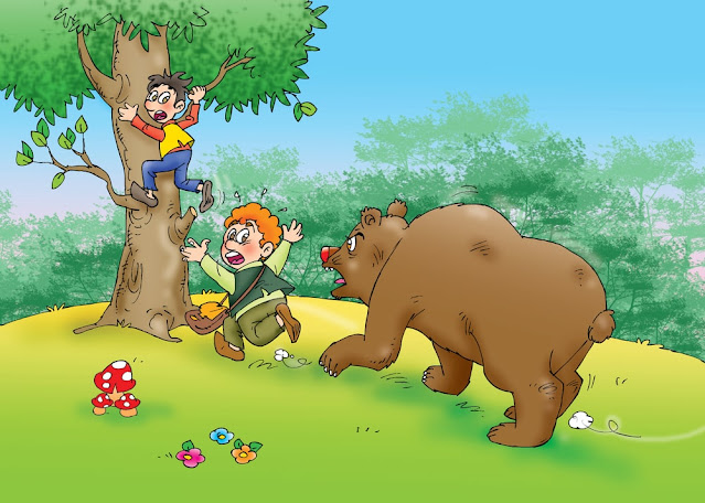 Two Friends & The Bear