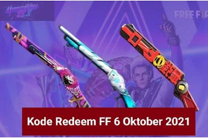 Update! Kode Redeem FF Free Fire Oktober 2021 Baru Tersedia, Berikut Cara Klaimnya!