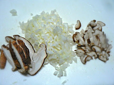 玉葱とシイタケ