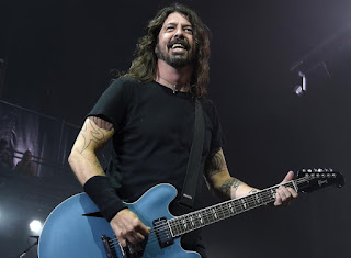Harper Willow Grohl's dad playing guitar