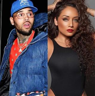 Nia Guzman with her ex-boyfriend Chris Brown