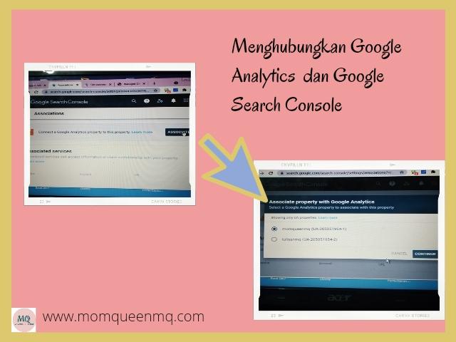associate google analythic dan google search concole