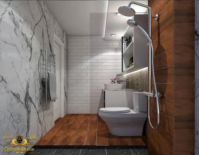 حمامات مودرن صغيرة مع السيراميك
