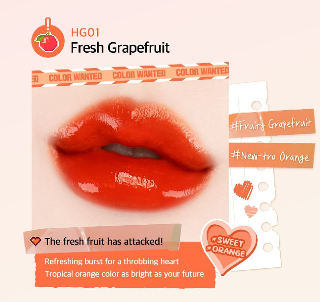 Màu HG01 Fresh Grapefruit