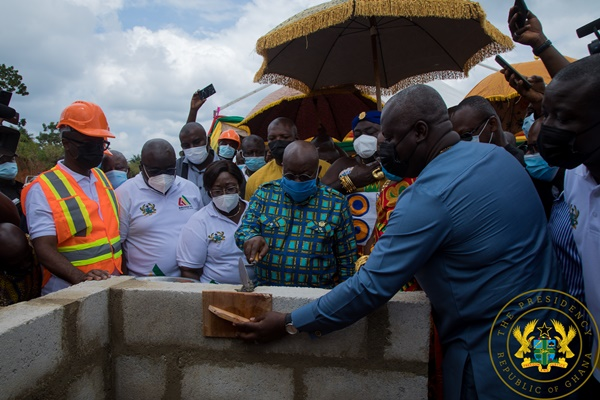 President Akufo-Addo Cuts Sod For Construction Of 111 Hospitals; Work To Be Completed In 18 Months