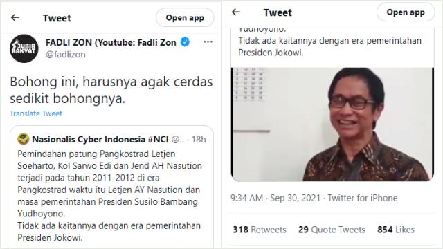 Akun Ini Klaim Patung Soeharto di Kostrad Dibongkar tahun 2011-2012, Fadli Zon: Bohong!