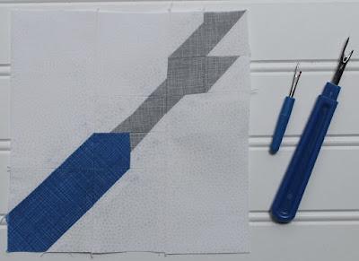 blue and grey seam ripper