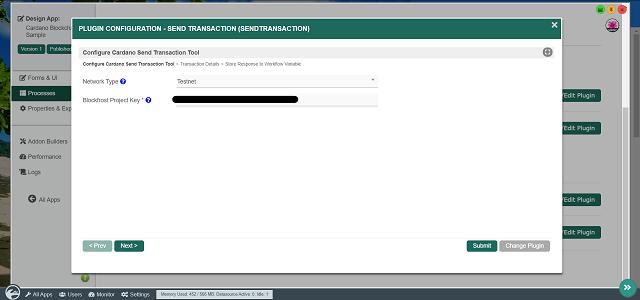 Configuring Cardano Send Transaction Tool