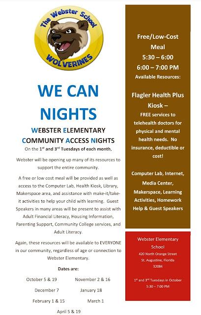 Webster School Open Community Nights
