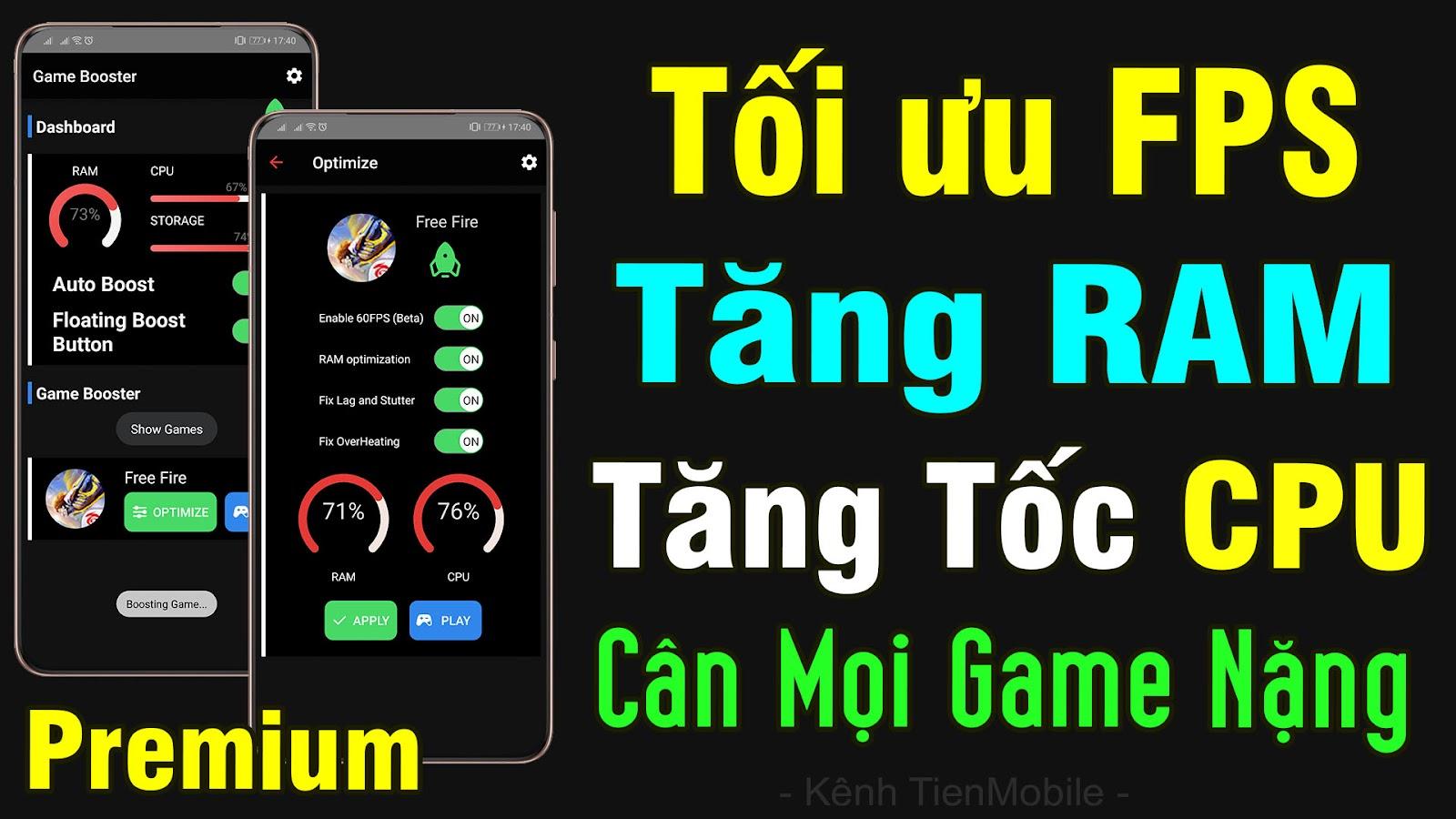 App tăng tốc Android giúp chơi mọi Game Nặng siêu Mượt