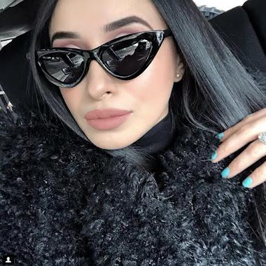 Narrow Retro Vintage Cat Eye Sunglasses For Women