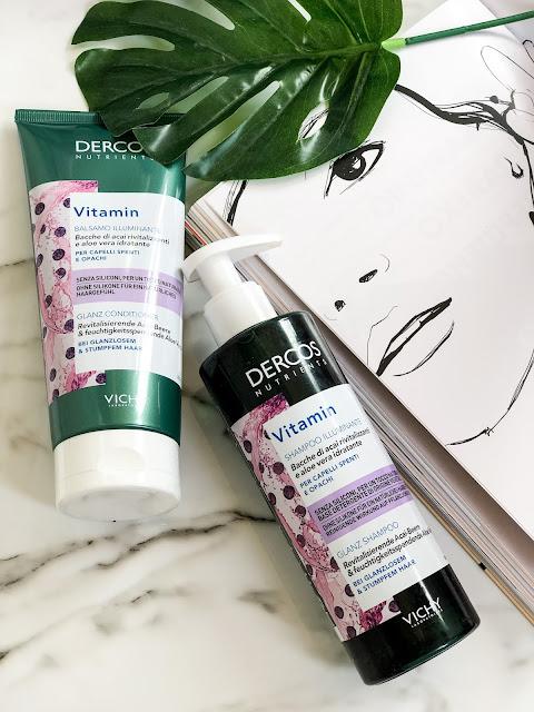 Шампунь и кондиционер для блеска волос Vichy Dercos Vitamin A.C.E
