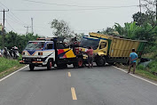 Respon Cepat, Satlantas Polres Serang Kota Olah TKP dan Bantu Evakuasi Truck Terperosok