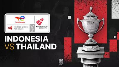 Link Streaming Thomas dan Uber Cup 2020 Indonesia vs Thailand Hari Ini 11 Oktober 2021 dan Cara Nonton di TVRI Vidio.com Online