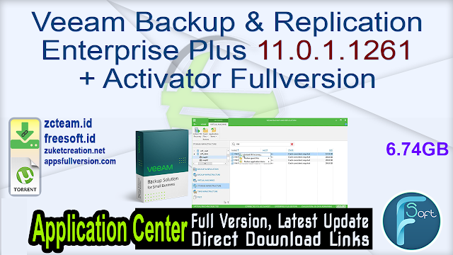 Veeam Backup & Replication Enterprise Plus 11.0.1.1261 + Activator Fullversion