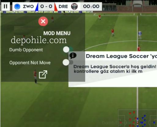 Dream League Soccer 2021 v8.20 Kazanma Hilesi Mod Menu