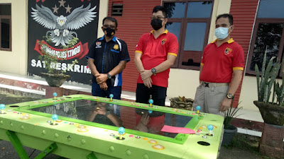 Polres Tebingtinggi Amankan 1 Unit Mesin Judi Tembak Ikan di Bandar Khalifah