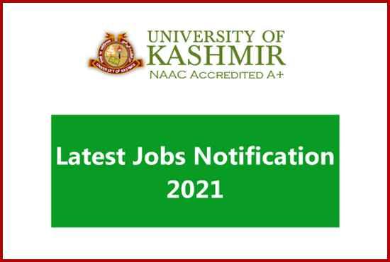 Kashmir University Contractual Lecturer New Vacancy Out for Academic Arrangement 2021