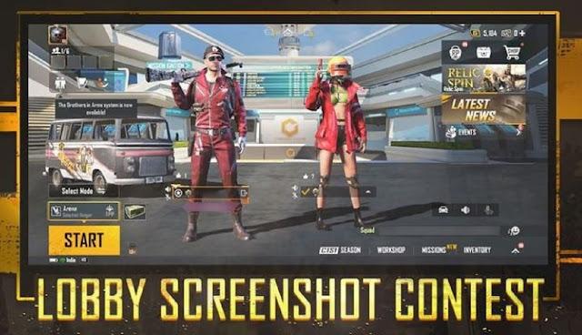 BGMI Lobby Screenshot Contest : Participate now