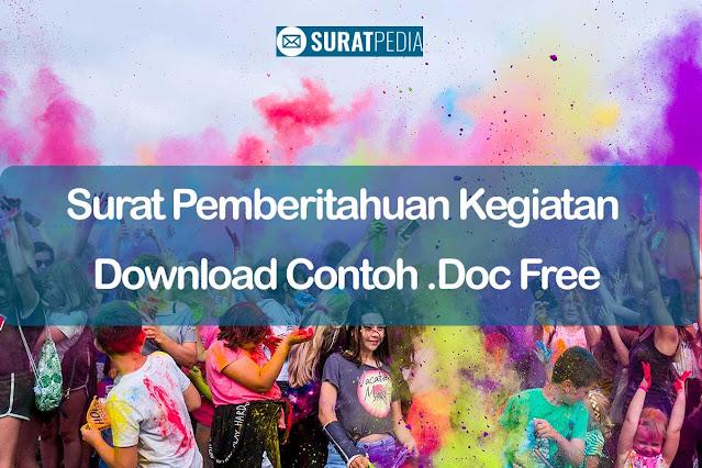 7 Format Surat Pemberitahuan Kegiatan Download Contoh .Doc Free