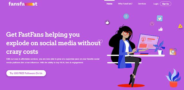 Screenshot of fanfast.net
