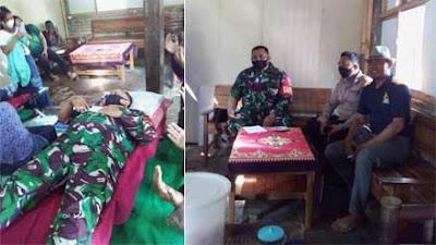 Anggota Koramil 01 Purworejo Gelar Donor Darah Dekat Jembatan Gantung Semawung