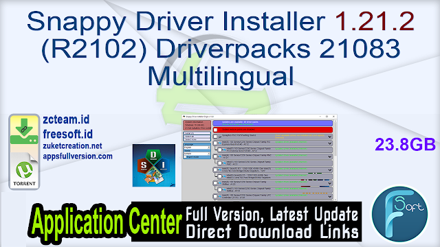 Snappy Driver Installer 1.21.2 (R2102) Driverpacks 21083 Multilingual