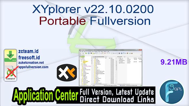 XYplorer v22.10.0200 Portable Fullversion
