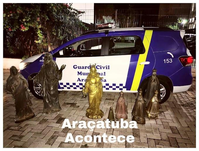 GCM detém 4 pessoas por furto de estátuas de bronze no cemitério da saudade