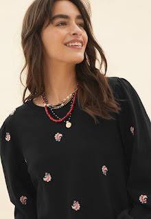 Marks & Spencer - Дамски Пуловер с бухнали ръкави