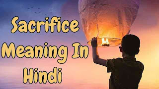 Sacrifice Meaning In Hindi