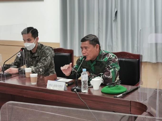 Kunjungan di Korea Selatan, Dankodiklatad kunjungi Korea Combat Training Center