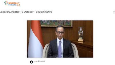 Indonesia Serukan Ekonomi inklusif, Perluasan Digitalisasi, dan Ekonomi Berkelanjutan di KTM ke-15 UNCTAD
