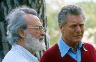 Caracciolo (right) pictured with Eugenio Scalfari,  who helped him make L'Espresso his first success