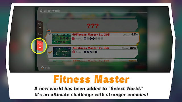 Ring Fit Adventure Fitness Master ultimate challenge select world
