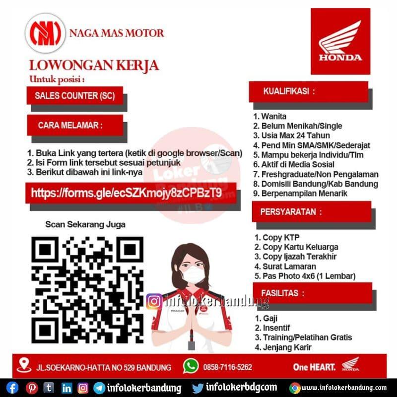 Lowongan Kerja Naga Mas Motor Bandung Oktober 2021