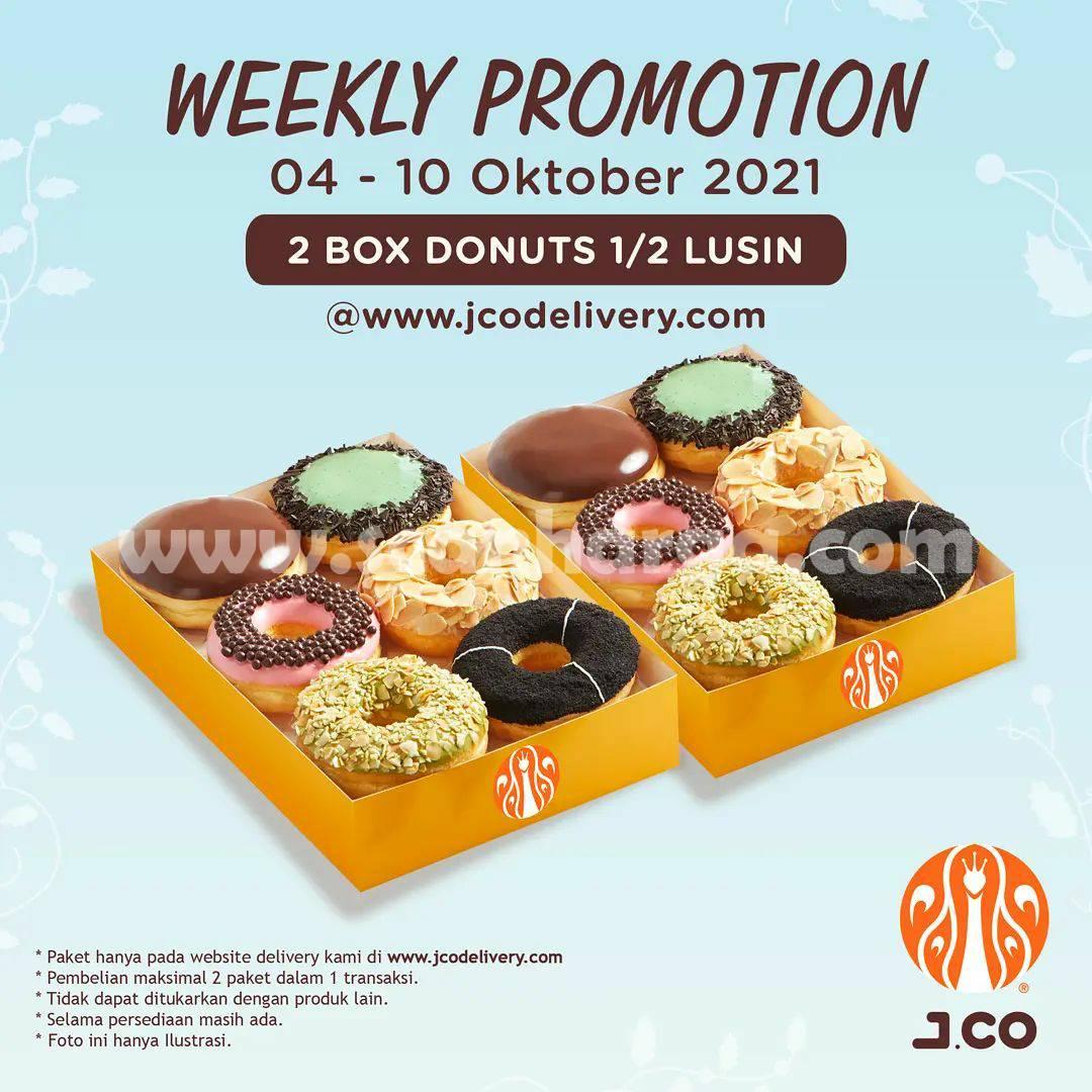 Promo JCO 2 Box Donuts 1/2 lusin Hanya Rp 85.000*