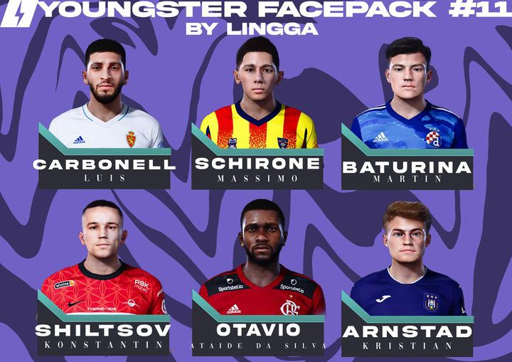 Youngster Facepack V11 2021 For eFootball PES 2021