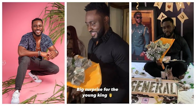 #BBNaija Moment fans of Pere surprises him with gifts (Video)