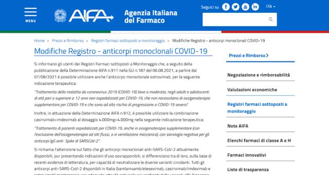 Vaccini Covid non più legalmente approvati in italia dal 7 Agosto 2021