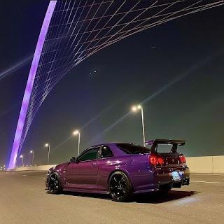 Aesthetic Purple Car