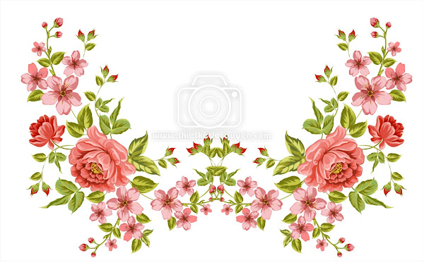 Colorful wild flower background with watercolor Free Vector png